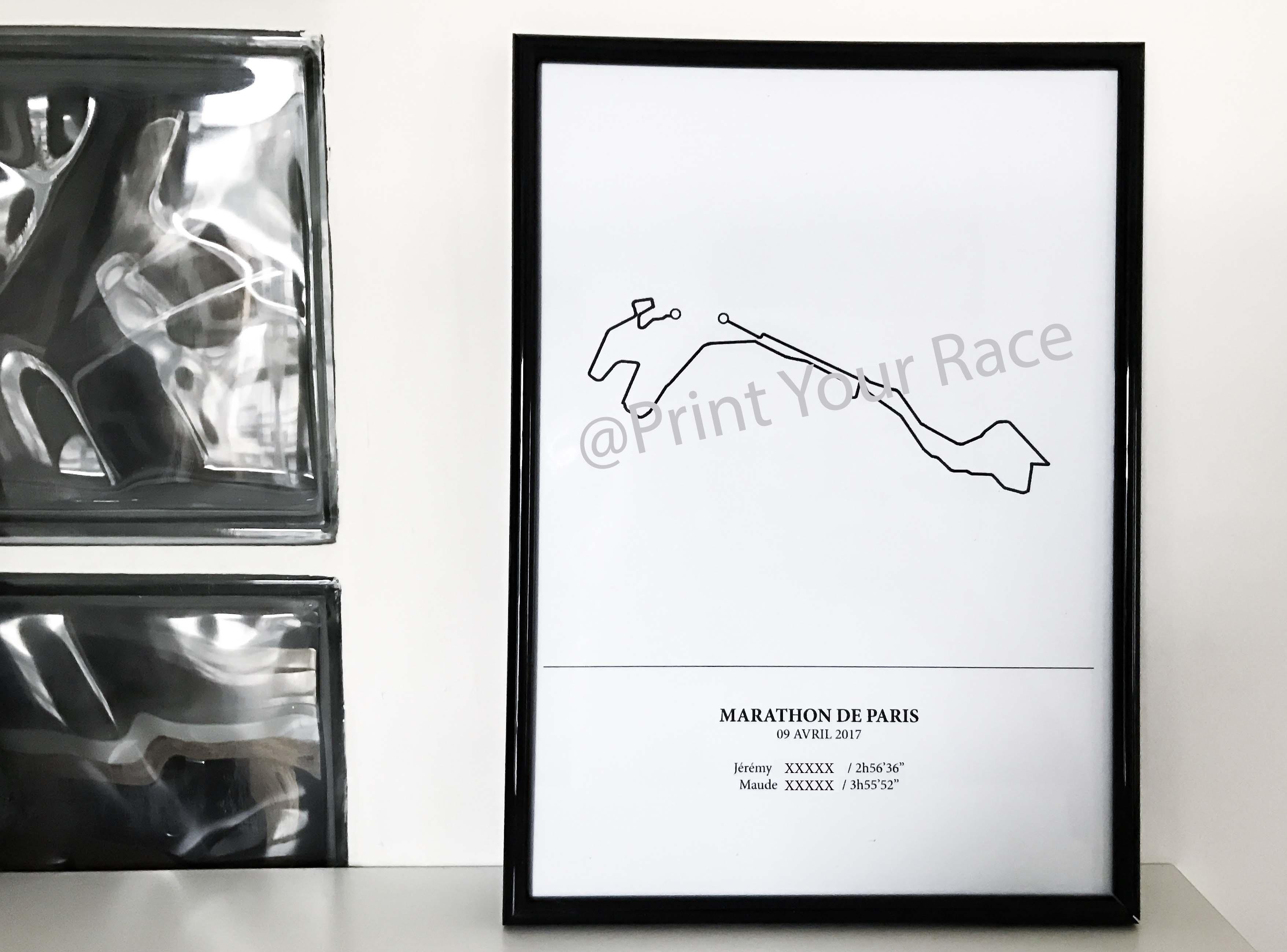 Paris Marathon 2017 poster by Print Your Race