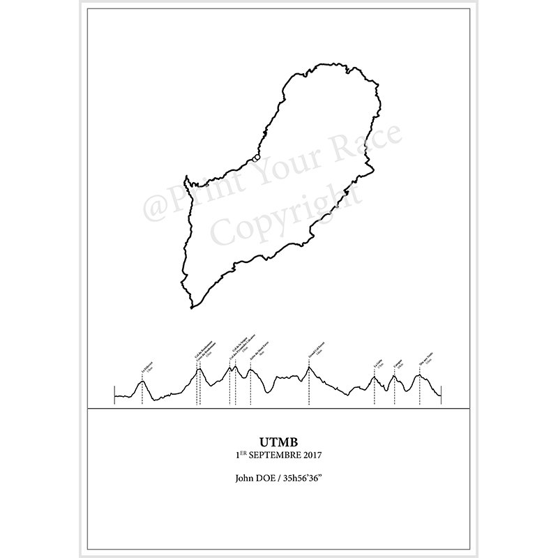 UTMB 2017 poster by Print Your Race