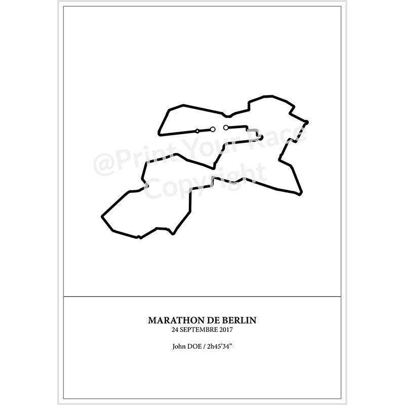 BMW Berlin Marathon 2017 poster by Print Your Race