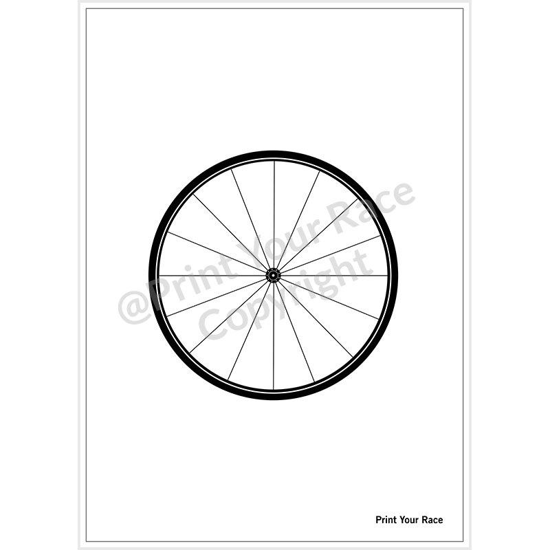Affiche Roue de Vélo par Print Your Race