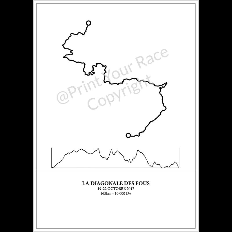 Affiche Diagonale des fous 2017 by Print Your Race