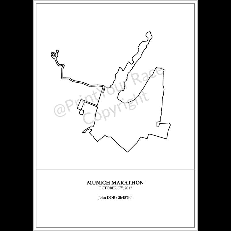Poster Munich Marathon 2017 by Print Your Race