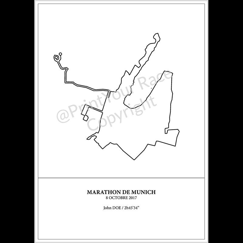 Affiche Marathon de Munich 2017 by Print Your Race