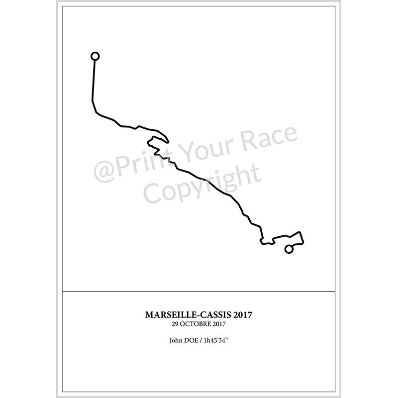 Affiche Marseille Cassis 2017 by Print Your Race